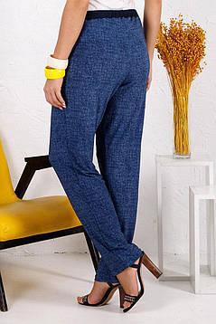 Летние женские брюки свободного кроя батал  с 54 по 66 размер, фото 2