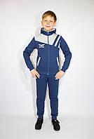 Спортивный  демисезонный детский костюм (Украина) для мальчика с капюшоном  , 98-104-110-116 рост
