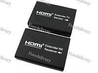HDMI удлинитель по RJ45 витой паре + ИК-сигнал, активный до 120м