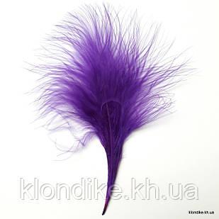 Перья декоративные, 8-12 см, Цвет: Фиолетовый (20 шт.)