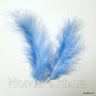 Перья декоративные, 11-15 см, Цвет: Голубой (20 шт.)