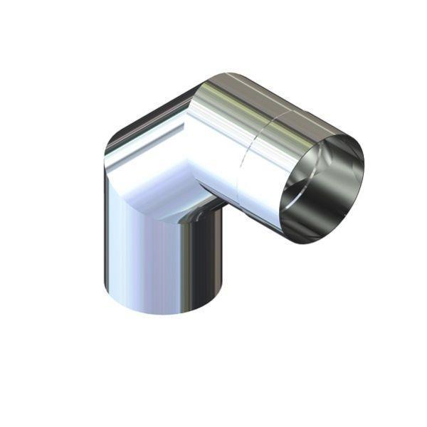 Отвод 90° для дымохода D-120 мм толщина 0,6 мм