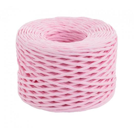 Шпагат паперовий кручений для декору, 50 м, рожевий....YES! Fun