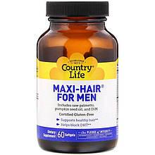 "Витамины для волос Country Life ""Maxi Hair for Men"" комплекс для мужчин (60 гелевых капсул)"