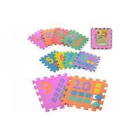 Детский игровой развивающий коврик-пазл (мозаика головоломка) OSPORT 10шт (M 0375)
