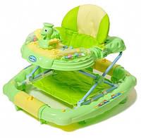 Ходунки-качалка 2в1 TILLY 6223SY зеленые