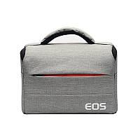 Фото сумка Canon EOS противоударная, цвет серый с красным ( код: IBF030SR )