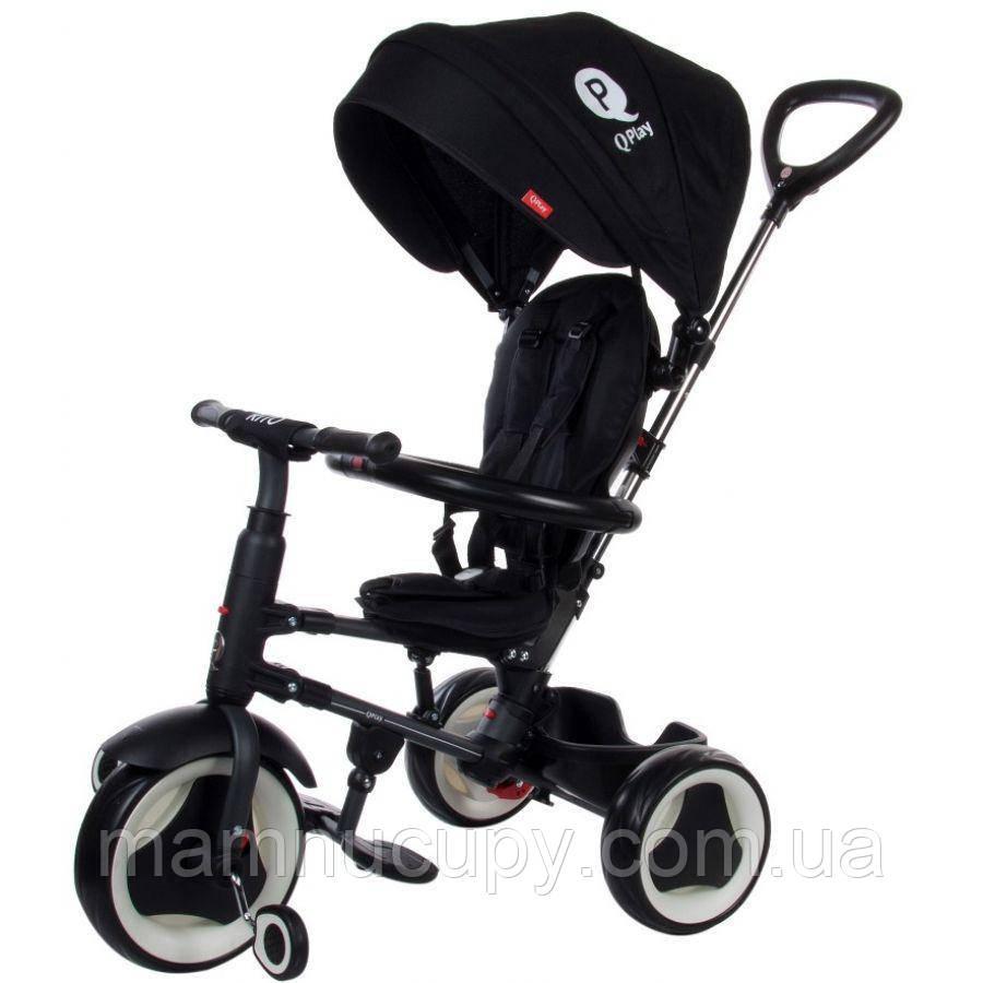 Дитячий триколісний велосипед Sun Baby QPlay Rito (J01.013.16) чорний