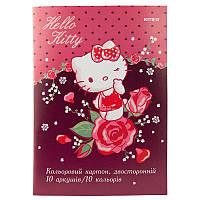 Набор двустороннего цветного картона kite hk19-255 10 листов hello kitty