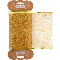 Стрічка декоративна 10 см * 2м, золота..,.YES! Fun
