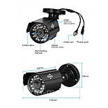 Комплект видеонаблюдения Hiseeu 4ch AHD-1MP 720P Outdoor, фото 2