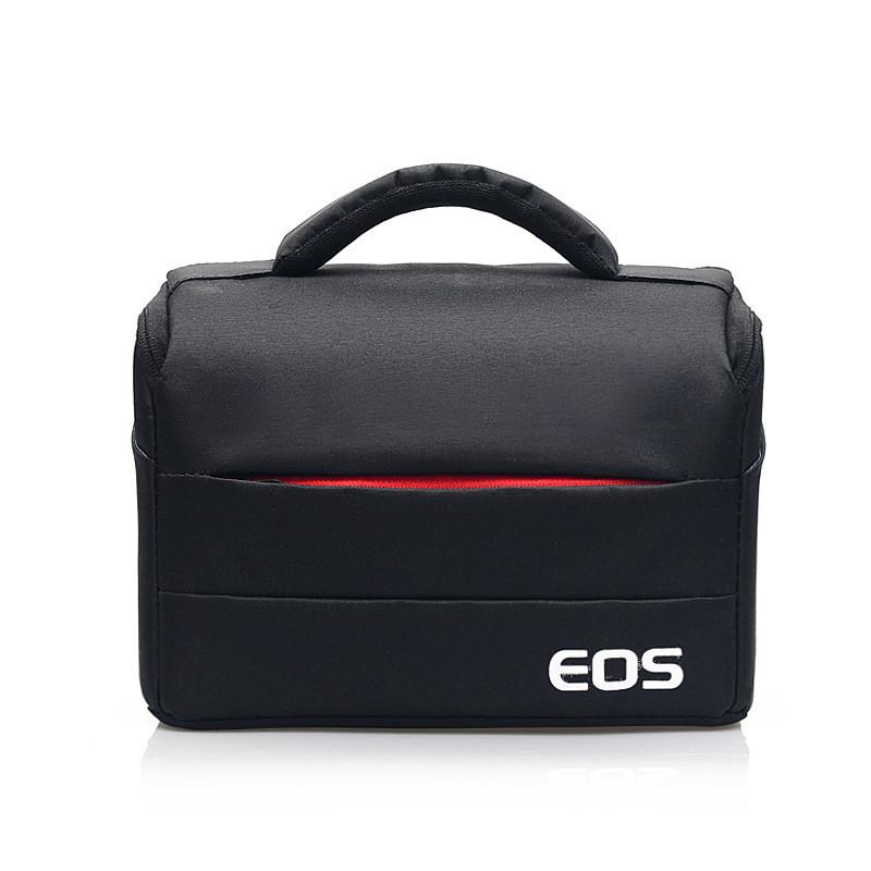 Фотосумка Canon EOS противоударная, цвет черный с красным ( код: IBF030BR )