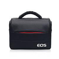Фотосумка Canon EOS противоударная, цвет черный с красным ( код: IBF030BR ), фото 1