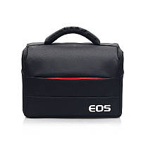 Фотосумка Canon EOS противоударная, цвет черный с красным