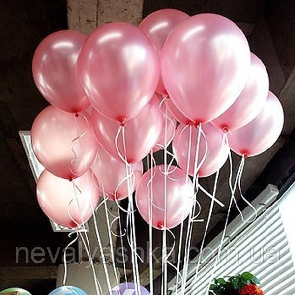 Шар Воздушный Розовый Перламутровый Цвет 12 Латексные Шары Розовый Перламутр Надувные Воздушные Летекс, 011124