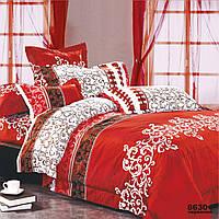 Комплект постельного белья семейный Вилюта ранфорс 8630 красный