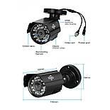 Комплект видеонаблюдения Hiseeu 2ch AHD-2MP 1080P Outdoor (2AHBB12), фото 2