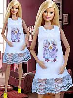 Одежда для кукол Барби (ночнушка)