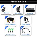 Комплект видеонаблюдения Hiseeu 4ch AHD-2MP 1080P Outdoor, фото 5