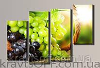 "Модульная картина на холсте из 4-х частей ""Виноград"" ( 70х102 см )"