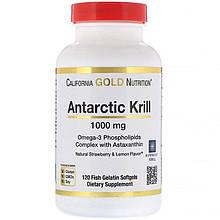 "Масло криля с астаксантином California GOLD Nutrition ""Antarctic Krill with Astaxanthin"" 1000 мг (120 капсул)"