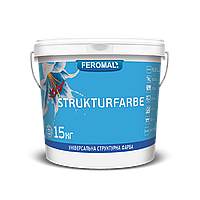 Краска универсальная штукатурная FEROMAL STRUKTURFARBE 15 кг