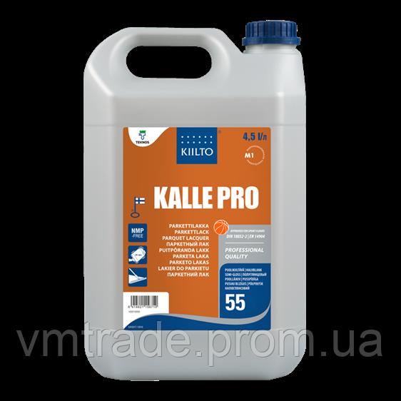Лак полиуретановый паркетный Киилто, полуглянцевый (Kiilto Kalle Pro 55) 5 л (А 4,5 л + В 0,5 л)