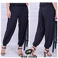 Женские летние брюки-султанки свободного кроя с 52 по 70 размера, фото 2