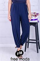 Женские летние брюки-султанки свободного кроя с 52 по 70 размера, фото 3