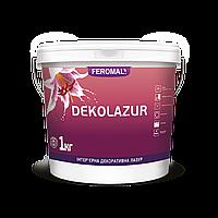 Лазурь интерьерная декоративная FEROMAL DEKOLAZUR 1 л (CLASSIC, GOLD, SILVER, ULTRA) глянцевая акриловая дисперсия