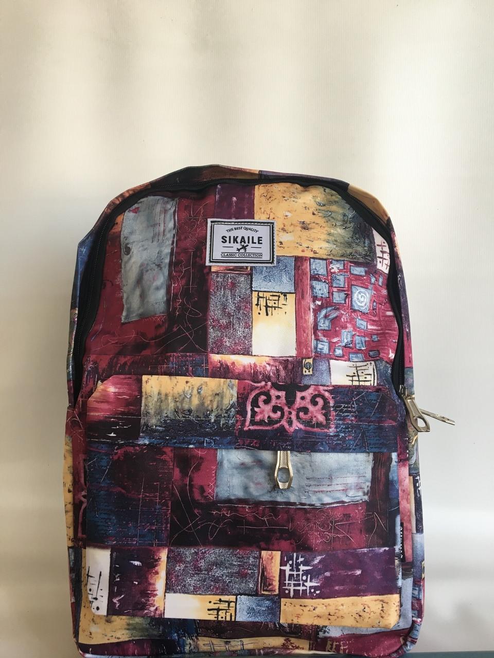 Спортивный текстильный городской рюкзак для путешествий