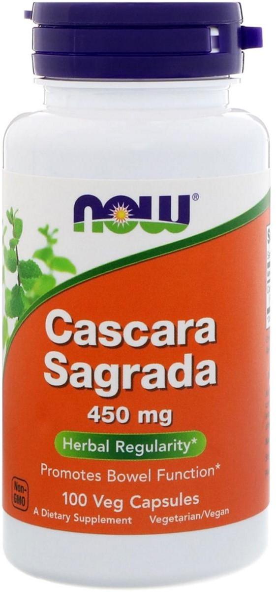 NOW Foods Cascara Sagrada 450mg 100 капс