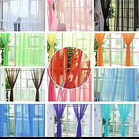 Легкий однотонный шифон на метраж разные цвета,высота 2.8м-3м, ширина наборная, фото 1