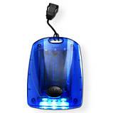 Фонарик с тремя светодиодами 2 цвета пластиковый корпус, цвет Синий - su 95298423, фото 2
