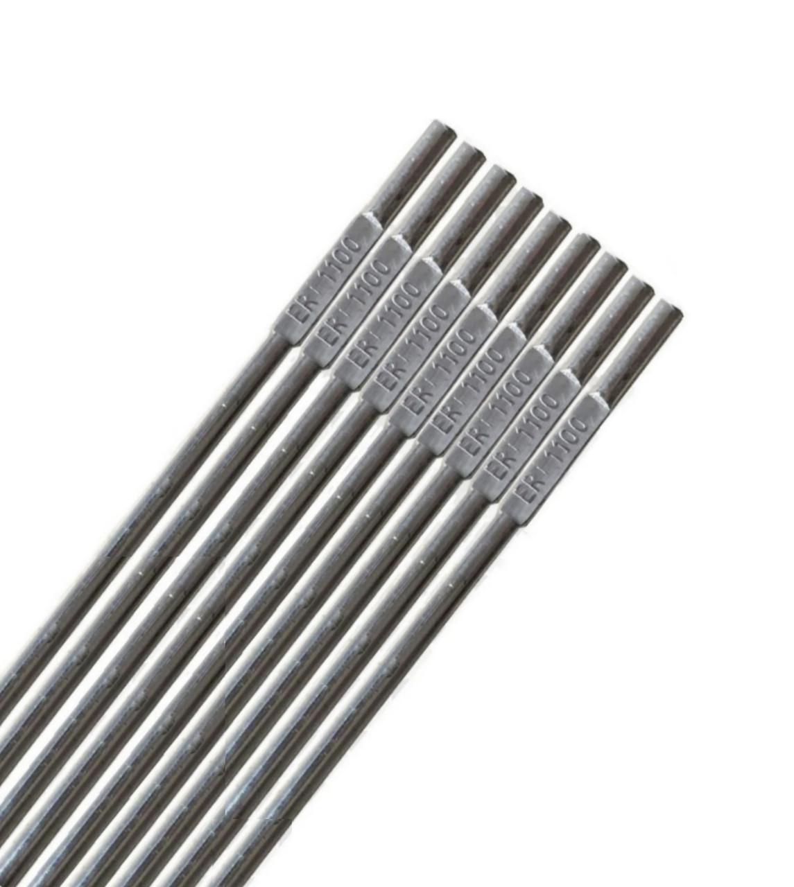 Пруток Ø2,4 мм ER1100(СвА5) для сварки алюминиевых сплавов (упаковка 0,5 кг)