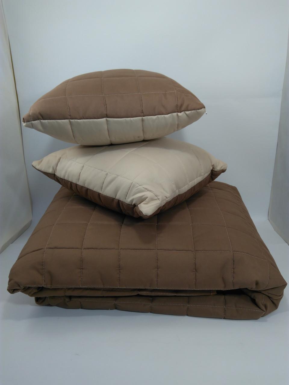 Покрывало двустороннее стеганое 160*220 + подушки ОДА