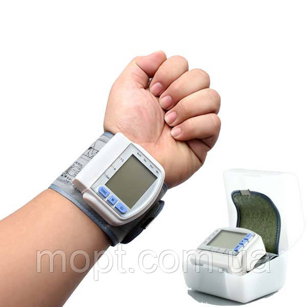Портативный Тонометр для измерения кровяного давления Blood Pressure Monitor + ПОДАРОК