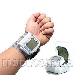 Портативный автоматический  тонометр измеритель кровяного давления Blood Pressure Monitor + ПОДАРОК