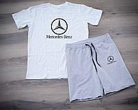 Мужской летний набор футболка+шорты Mercedes-Benz ST456, Реплика