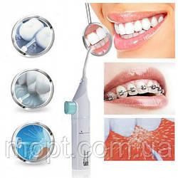 Портативный механический ирригатор Power Floss для дополнительной очистки зубов + ПОДАРОК