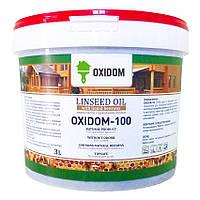 Льняное масло с пчелиным воском OXIDOM-100 (матовое) 3 л