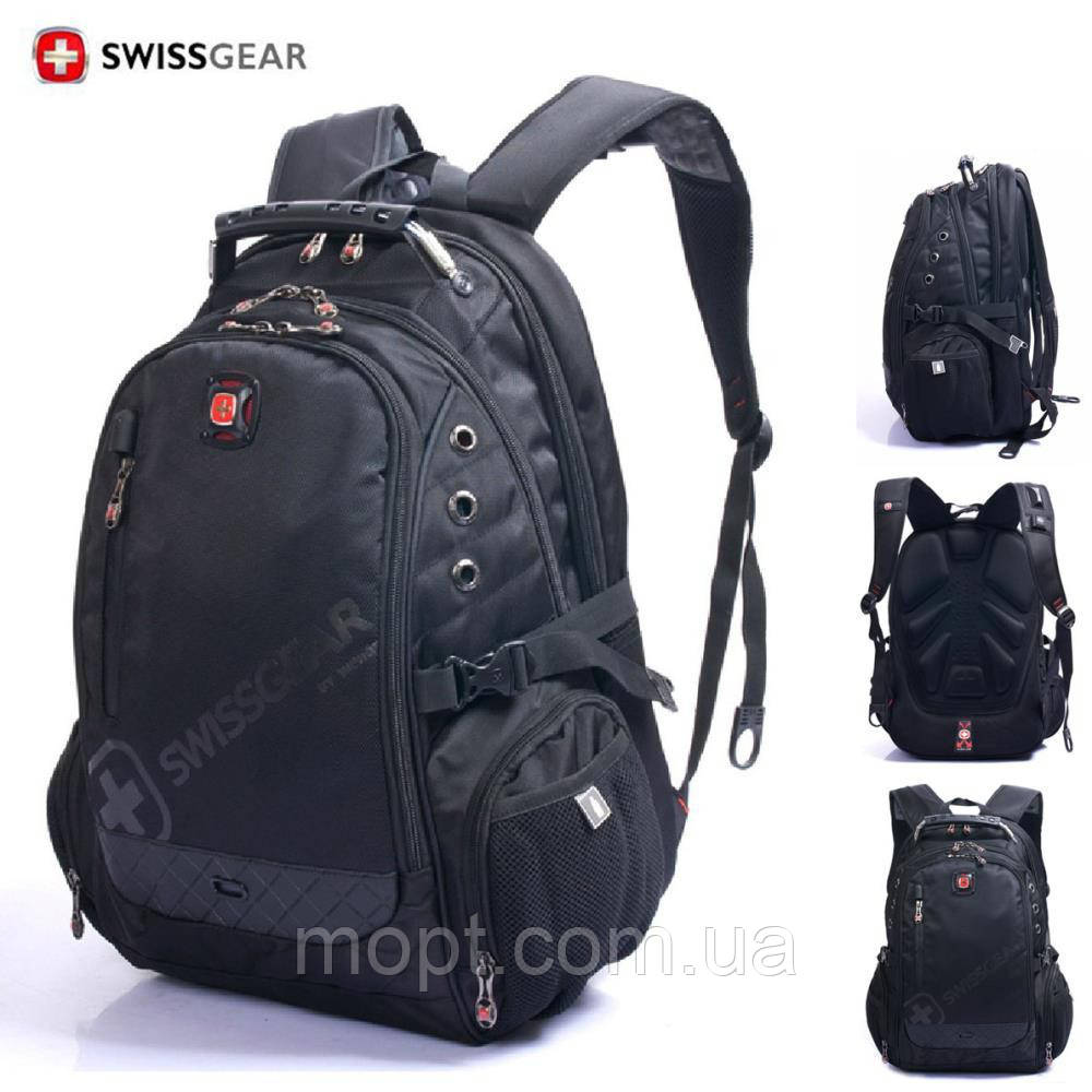 Рюкзак SwissGear Wenger 8810 для школы школьника студента работы учебы городской с USB крепкий + ПОДАРОК