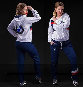 """Женский стильный спортивный костюм в больших размерах """"BMW"""" в расцветках (02-112-2)"""