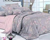 Комплект постельного белья двуспальный с цветочным принтом