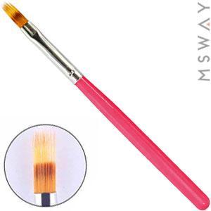 Кисть для рисования KATTi градиент (розовые ручки) L135мм 5х14мм