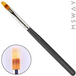 Кисть для рисования KATTi градиент (черные ручки) L135мм 5х14мм