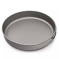 Титановая туристическая сковорода, тарелка из титана 1 литра 20 см.