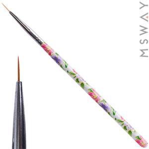Кисть для рисования KATTi тонкая (цветы ручки) 8мм