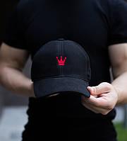 """Бейсболка мужская черная с вышивкой """"Красная корона"""", фото 1"""