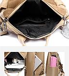 Рюкзак-сумка женский коричневый, фото 2